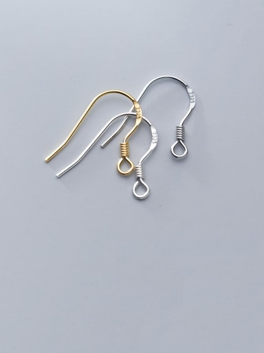 925 Sterling Silver With Minimalist Ear Hook Semi-Finished Earring Accessories