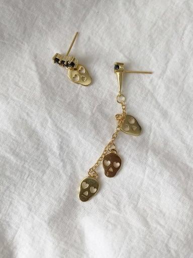 925 Sterling Silver Skull Vintage  Stud Earring