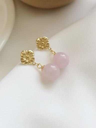 Flower Crystal Earrings 925 Sterling Silver Imitation Pearl White Flower Minimalist Drop Earring