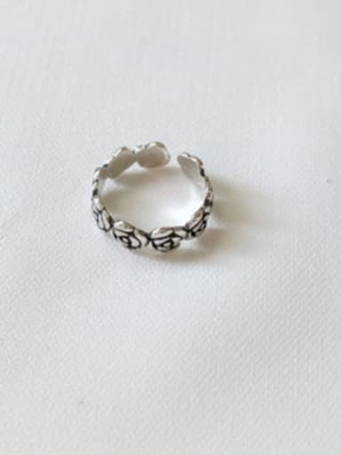 925 Sterling Silver Flower Minimalist  free size Ring