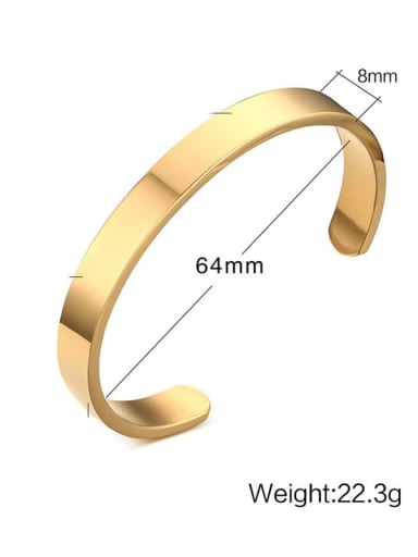 8mm diameter: 64cm Titanium Geometric Minimalist Bracelet