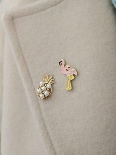 925 sterling silver imitation pearl bird cute study earring Brooch