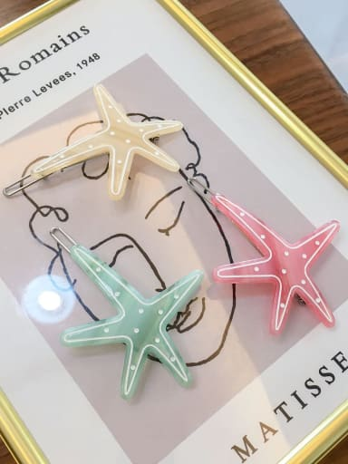 Cellulose Acetate Minimalist Star Hair Pin