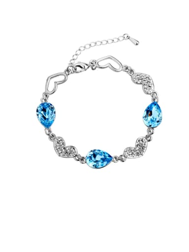 Alloy Crystal Water Drop Minimalist Bracelet