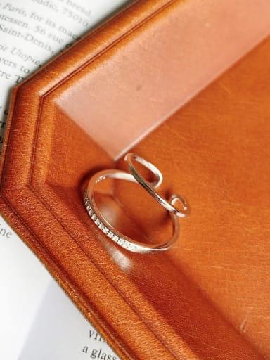 925 Sterling Silver Minimalist  Double Ring Ear Clip (Single)  Earring  Earring