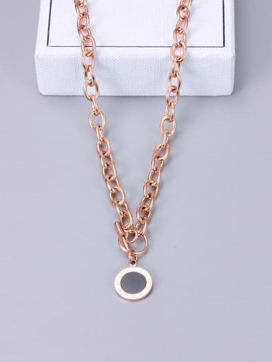 Titanium Enamel Round Minimalist Necklace
