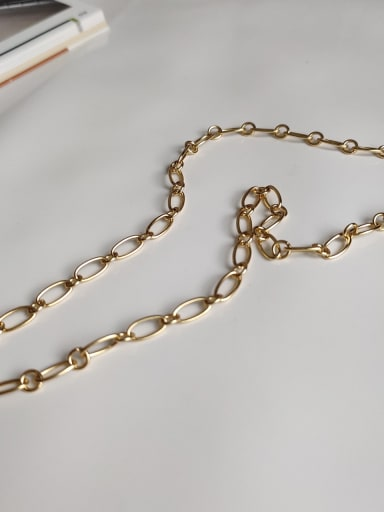 chokerIN 41cm 925 sterling silver hollow chain necklace