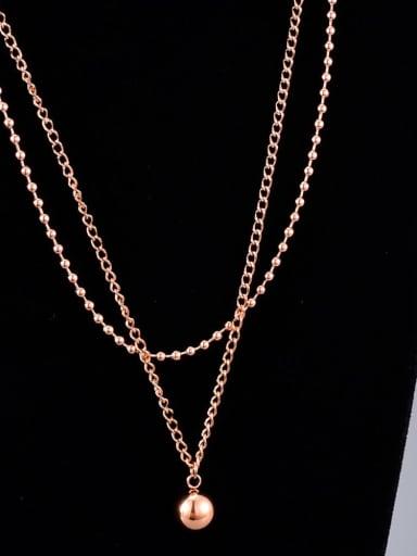 Titanium Bead Ball Minimalist Multi Strand Necklace