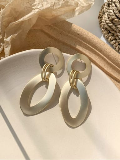 B ????? Alloy With Imitation Gold Plated Simplistic Geometric Drop Earrings