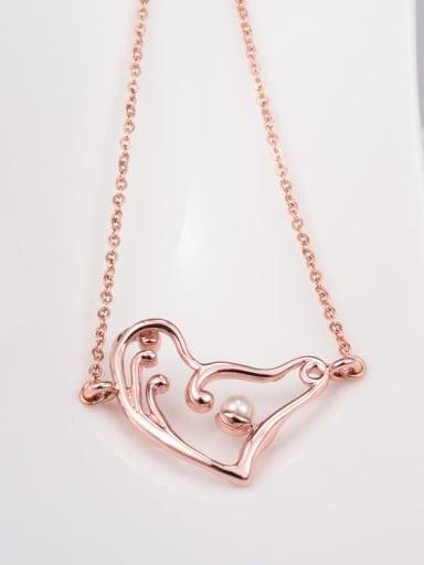 Titanium Hollow heart Minimalist pendant Necklace