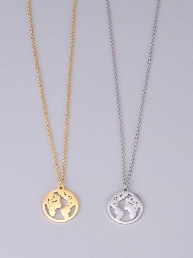 Titanium Hollow Round Minimalist Choker Necklace