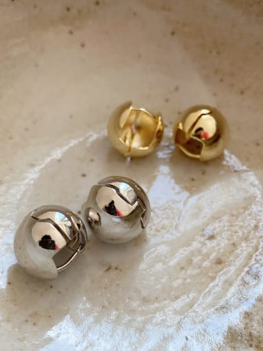 925 Sterling Silver Round Ball Minimalist Stud Earring(ONLY ONE PCS)