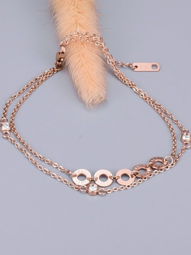 Hollow Round Double classic Anklet