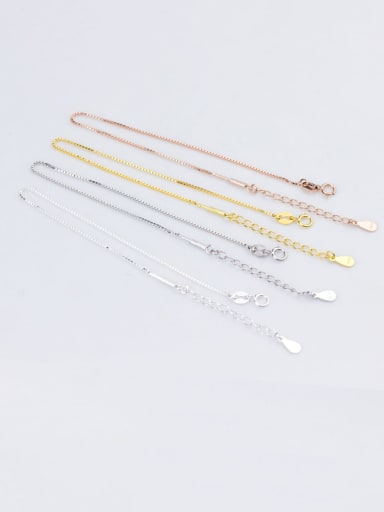 925 Sterling Silver With Minimalist  Semi-Finished Box Chain Bracelets