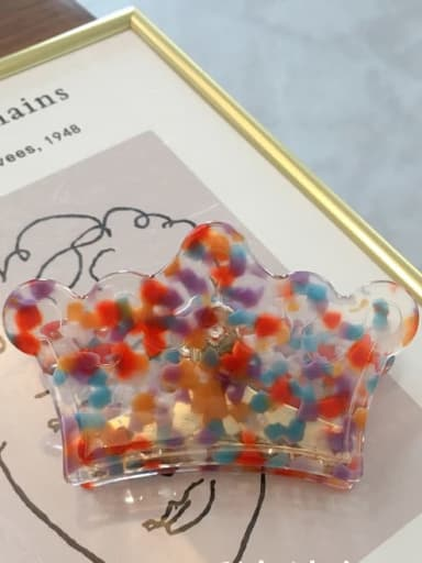 Color wave point Cellulose Acetate Minimalist Geometric Acrylic crown Hairpin ponytail