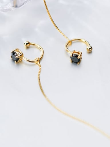 925 Sterling Silver Round Minimalist Threader Earring