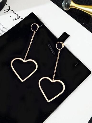 Titanium Heart Minimalist Threader Earring