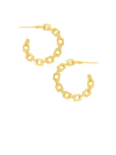 Brass Hollow Geometric Minimalist Hoop Earring