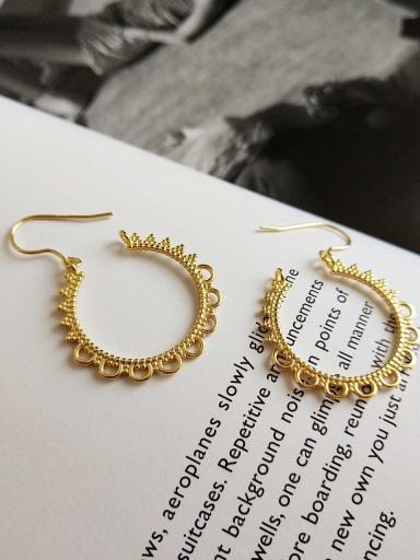 925 Sterling Silver Flower Minimalist Hook Earring