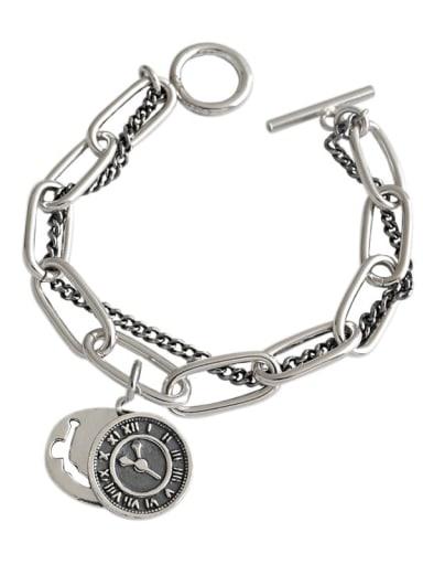925 Sterling Silver Round Vintage Strand Bracelet