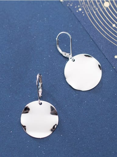 925 Sterling Silver Smooth Round Minimalist Huggie Earring