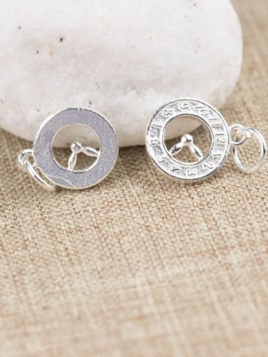 925 Sterling Silver With Vintage Clock  Pendant Diy Accessories