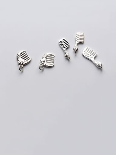 925 Sterling Silver With Small Comb Pendant DIY Jewelry Accessories