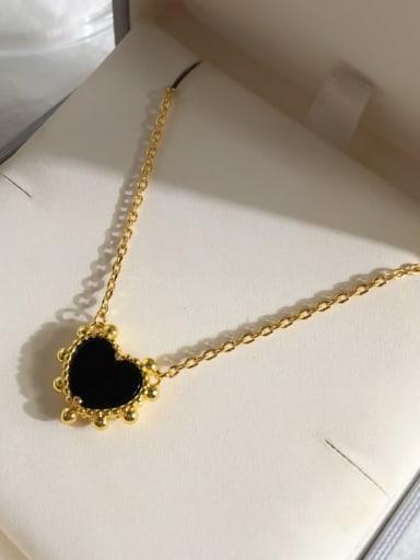 Golden black Copper Malchite Multi Color Necklace