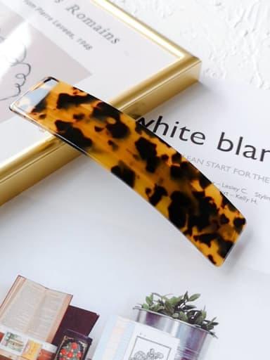 Carambola 10.2cm Alloy Celulose Acetate Geometric  Hair Barrette