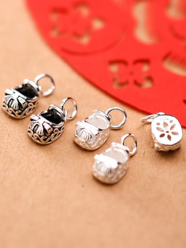 925 Sterling Silver With  Shoe Pendant Handmade DIY Jewelry Accessories