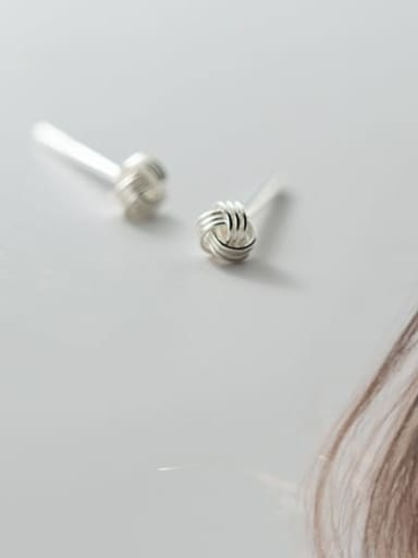 S925 silver pair Silver 3mm 925 Sterling Silver Ball Vintage Stud Earring