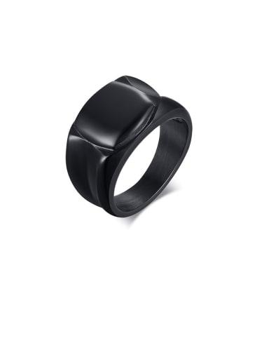 Titanium 12mm Men's Black Ring
