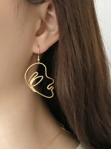 925 Sterling Silver Single Hollow Face Minimalist Hook Earring