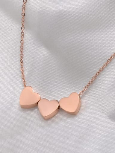 Titanium Smooth Heart Necklace
