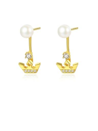 925 Sterling Silver Freshwater Pearl Irregular Minimalist Stud Earring