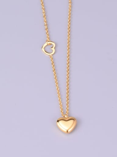 Titanium Smooth Heart  Necklace