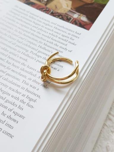 925 Sterling Silver Minimalist  Knot Free Size  Midi Ring