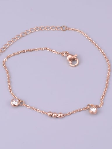 Titanium Rhinestone White Bracelet