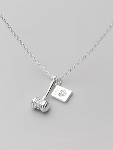 925 Sterling Silver Geometric Minimalist Necklace
