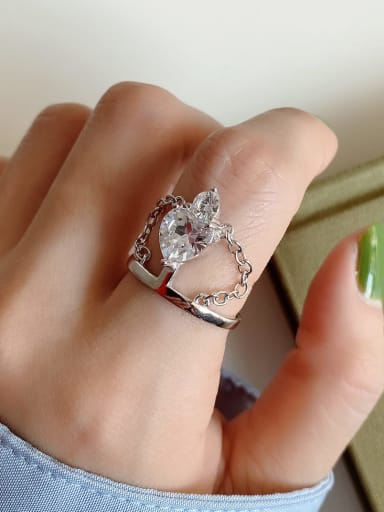 925 Sterling Silver Crown Vintage Free Size Ring