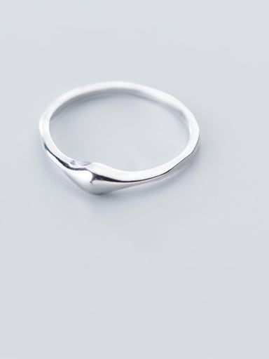 925 Sterling Silver Minimalist Irregular Smooth Free Size Ring