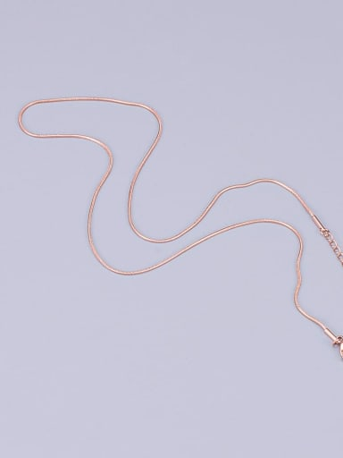 Round snake chain rose gold L27 Titanium Minimalist Twisted Serpentine Chain