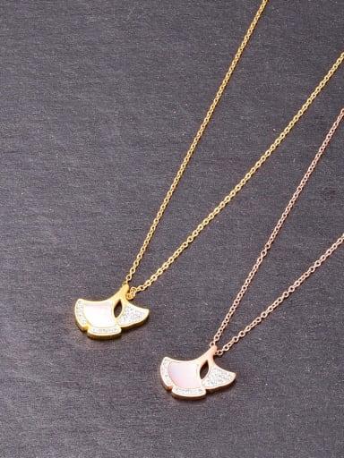 Titanium Shell Irregular Minimalist Necklace
