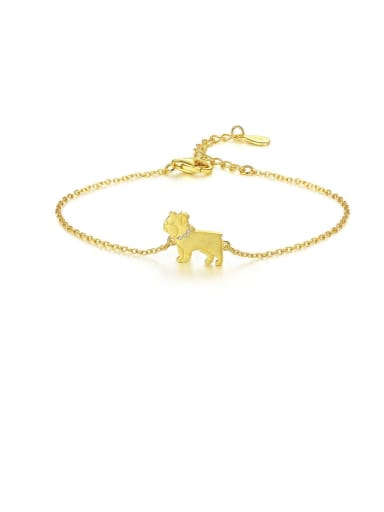 925 sterling silver simple cute Dog Bracelet