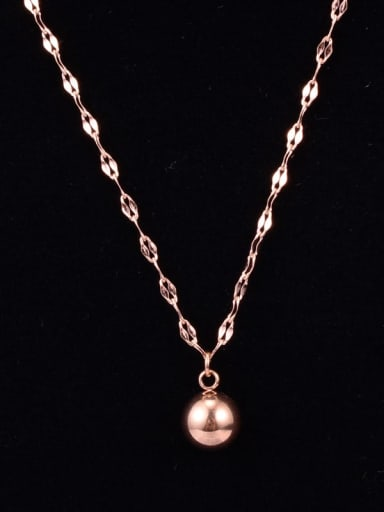 Titanium Simple personality transfer beads Necklace