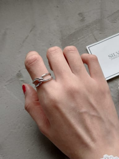 925 Sterling Silver bowknot free size Ring