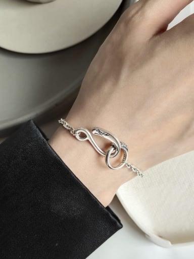 925 Sterling Silver Buckle Vintage Link Bracelet