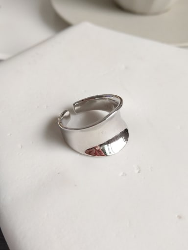 925 Sterling Silver geometric free size Ring
