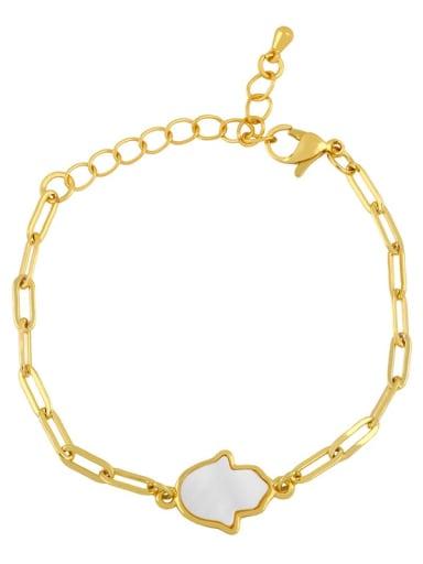B Brass Shell Butterfly Minimalist Adjustable Bracelet
