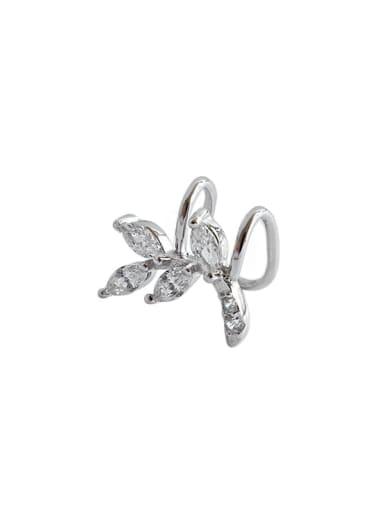 925 Sterling Silver Cubic Zirconia White Flower Minimalist Stud Earring